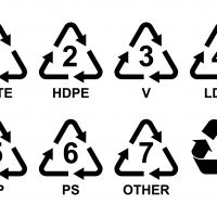 Match The Plastic Product With Its Recycling Number